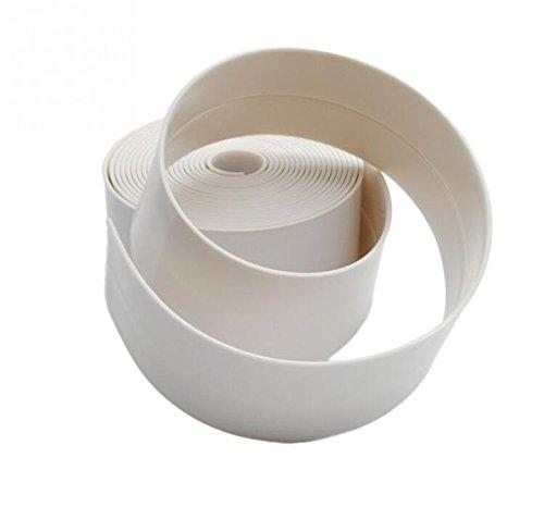 PVC baño sellador cinta, blanco borde cinta adhesiva y tira de sellado de pared para baño lavabo del fregadero cocina Gap Seal impermeable por Wady