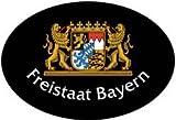 Auto-Aufkleber 3D-EPOXY-Aufkleber - FREISTAAT BAYERN - 303829 - Gr. ca. 4 x 3cm - Wappen Landeszeichen Flagge