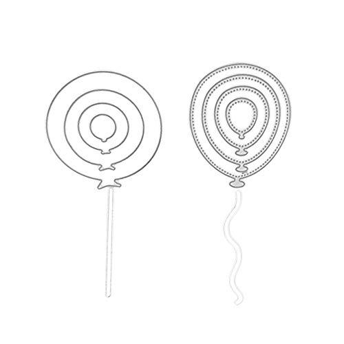 Andouy Stanzen Stanzformen Stanzschablonen Scrapbooking Schablonen Stanzbögen Metall Sterben,Zubehör für Sizzix Big Shot/Cricut Cuttlebug/und Andere Stanzmaschine(I,Luftballons ()