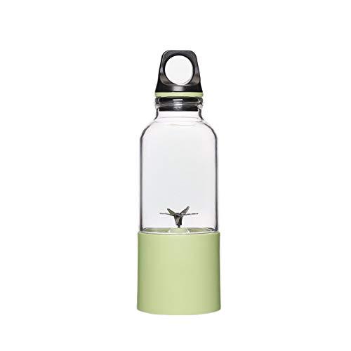 IHMIZ Tragbar Schnurlos Mixer Klein Saft-Cup USB Wiederaufladbar Abnehmbar Fruchtmischer für Outdoor-Reisebüro Haushalt,Green