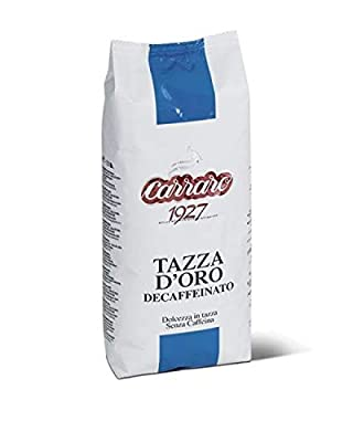 Carraro 1927 Taza D'oro Decaffeinated Premium Italian Gourmet Coffee Beans 500gr from Carraro