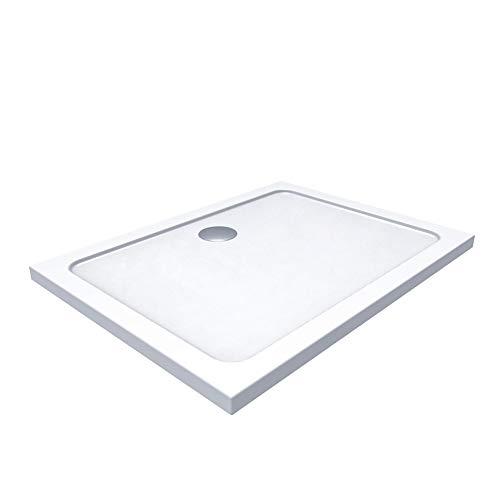 duschwanne 120 Duschwanne Duschtasse 90x120 Rechteckig Acryl inkl. Ablaufgarnitur (Syphon) Weiss - Duschwanne mit Gefälle (90x120)