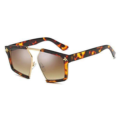 Sonnenbrille Damen Fahren Sport Einkaufen Reisen Komfortabel rutschfest Langlebig Einfach Mode Anti-Strahlung Blendschutzbrille (Farbe: Schildpatt Rahmen braune Linse)