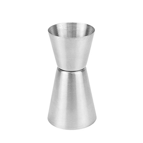 Techting 25/50 ml-Edelstahl-Bar Maßnahmen Jigger Party Wein Cocktail Dual-Spirituose Measure Cup -