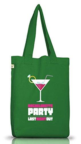 Junggesellenabschieds JGA Hochzeit Jutebeutel Stoffbeutel Martini - Bachelorette Party Moss Green