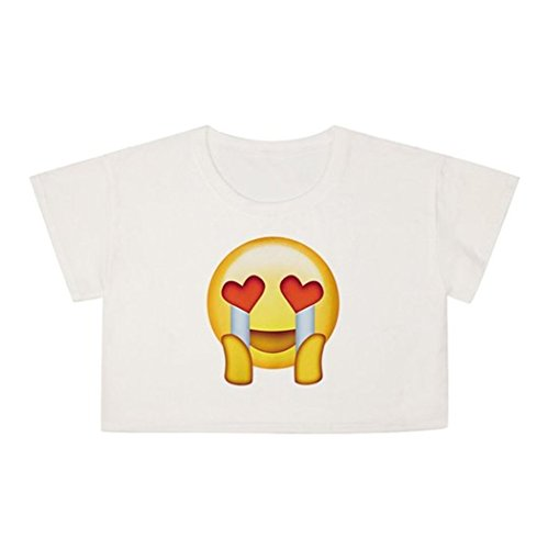 JWBBU Damen Kurzarm k Best Friends T-Shirts Rundhals-Ausschnitt Weißes T Shirt Print Damen Tops Coole Fun Shirts NV-BJKS-018