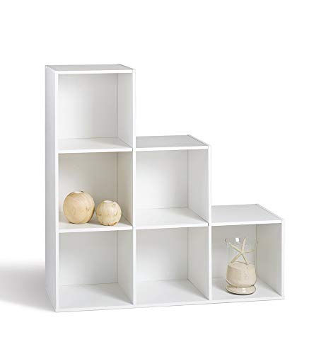 Alsapan Etagère, Bois, Blanc, 93 x 30 x 93 cm