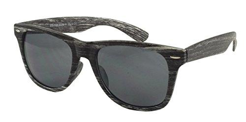 Sonnenbrille im Stil der 50er, Texture Collection, Holz  Gr. Einheitsgröße, grau/weiß
