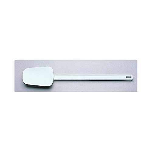 Rubbermaid FG193300WHT 9.5 In White Cold Spoon Spatula, 0.344 Inch x 0.935 Inch x 0.935 Inch