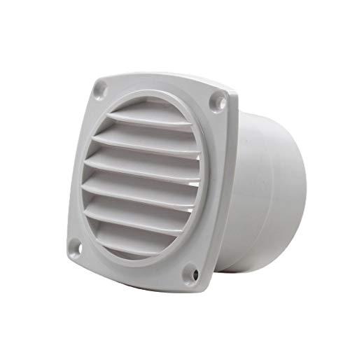 Shiwaki Seaflo Round Air Vent ABS Louver Weiß Kühlergrillabdeckung Auspuff Verstellbar -