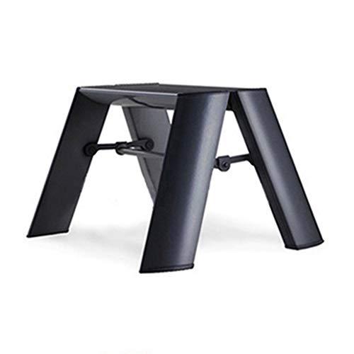 Leiter Hocker Aluminium One Step Klapp Kinderstuhl Dual Use Portable Outdoor Skizzieren Hocker Für Kinder 1 Schritt Hocker Hause KADJ (Color : Black) -