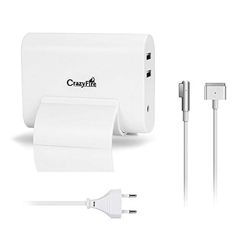 Magsafe Chargeur, CrazyFire 45W Adaptateur Secteur Macbook Air, avec 2