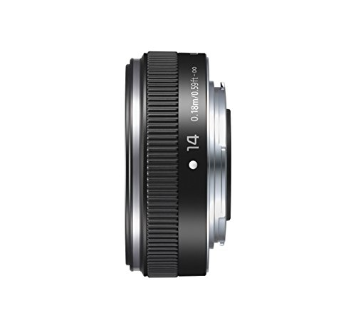 For Sale Panasonic H-H014AE-K Micro Four Thirds 14mm Single Focal Length Lens – Black on Amazon