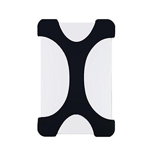 GLOTRENDS X-Form Stoßfest Festplatte HDD Silikon Case Cover Schutzfolie für Seagate Backup Plus Externe Festplatte, Toshiba Canvio Basics, Canvio Slim II Tragbare 6,3 cm externen Festplatte (Schwarz) (2t Portable Hard Drive)