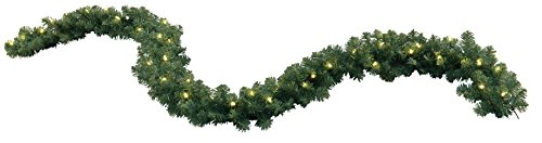 Garland, beleuchtet 270 cm, 40 warmweiß LED outdoor, Trafo Vierfarb-Karton 612-22 (Karton Bäume)