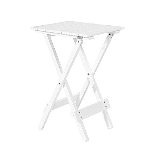 Butlers LODGE Mini-Klapptisch - Beistelltisch - Akazien-Holz - geölt - faltbar - rechteckig - 38x29,5x51 cm (Weiß Holz Quadratischen Tisch)