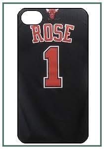 Derrick Rose NBA Star Player Chicago Bulls iPhone 4 iPhone4 noir Designer dur Protecteur Housse Coque