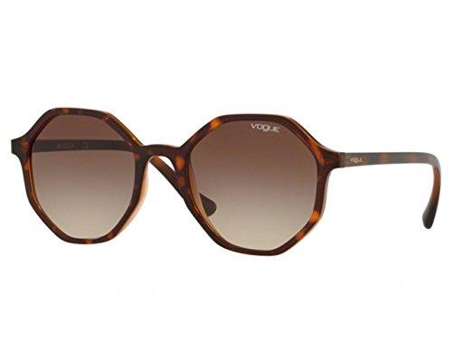 Vogue - vo5222s occhiali da sole donna, forma irregolare colore havana