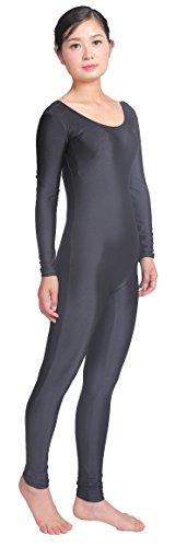 Speerise Plus Größe Unitard Body Long Sleeve Spandex für Frauen Dance Kostüm, Schwarz, (Elf Kostüme Für Frauen)