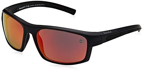 4d3f12d2d1 Timberland TB9134 Gafas de Sol, Negro (Shiny Black/Smoke Polarized), 63.0
