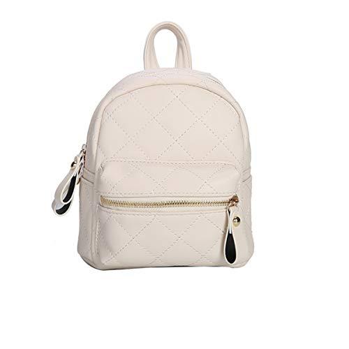Tianba Einfarbig Leder Dayback Plaid Freizeit Schulrucksack Outdoor Reise Regenschutz Backpack Damen Retro Rucksack