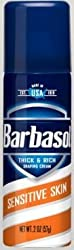 Barbasol Shave Cream Sensitive Skin Travel size 2 oz (Pack of 36)