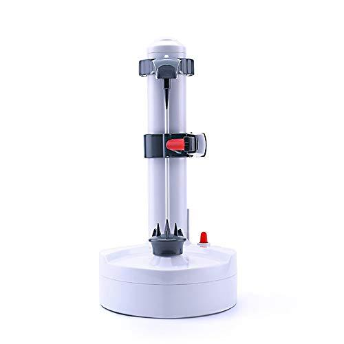 ZHYP Kartoffelwerkzeuge Messer Home Cutter Peeling Machine Fruit Electric Peeler Multi -Funktionale Edelstahl Klinge Automatische Küche,Weiß (Elektrische Baum-cutter)