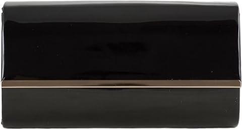 H&G Mesdames mode brillant embrayage de brevet \ sac de soirée (noir)