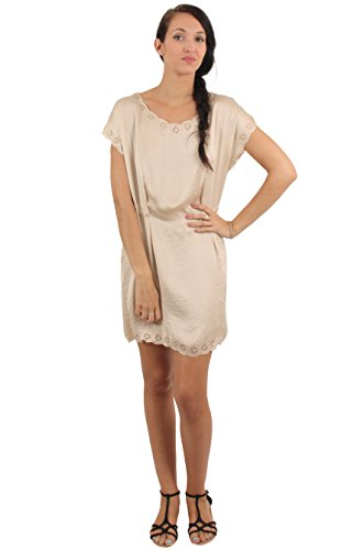 Sunshine - Robe style tunique sans col - Femme Vert pin