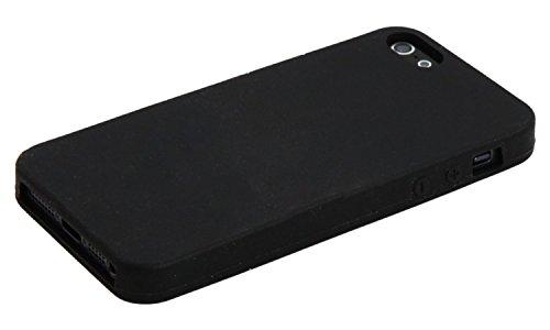 iPhone 5 Cover Housse Etui Bumper Frame Coque Cadre en Silicone Gel Diamant. Plusieurs motifs disponibles! Simple - Noir