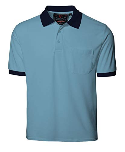 KGB Polo t Shirts for Men Half Sleeves with Collar and Pocket Casual mesh Type- Sky Blue