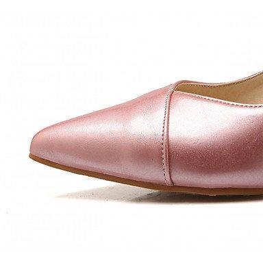 Talloni delle donne Primavera Estate Autunno Inverno Dress Comfort novità PU similpelle nozze ufficio & carriera Party & Sera casuale tacco grosso Pink