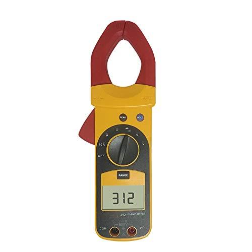 F312 Digitalzangen Multimeter Tester AC 600 / 1000A Voltmeter Amperemeter AC DC Tester Multimeter LTJHJTCD (Color : Gelb, Size : 312)