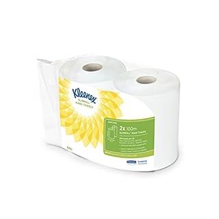 Kleenex 6767 Slimroll Handtuchrolle, 1-lagige, 2 Rolle x 100 m, weiß