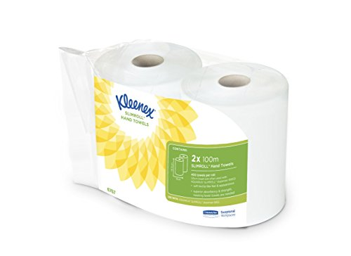 KLEENEX Slimroll Airflex (product code 6767) 2 x 100m white, 1 ply rolls
