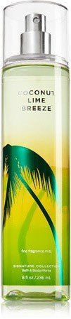 Bath & Body Works Signature Collection Fragrance Mist Coconut Lime Breeze 8 oz / 236 ml by Limited brands -