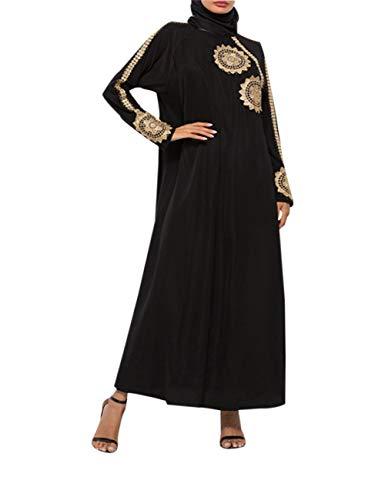 8757962b9f71 zhruiqun Kaftano Donna Abaya Islamico Lunghi - Abito Maxi Elegante Vestiti  Musulmana Caftano Jalabiya (L