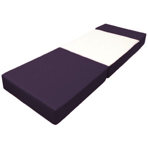 Comfortable Supreme Quality Foam Fold Out Z Bed Chair in Purple. Soft, Comfortable & Lightweight with a Removeable Waterproof Cover. Available in 10 Colours.