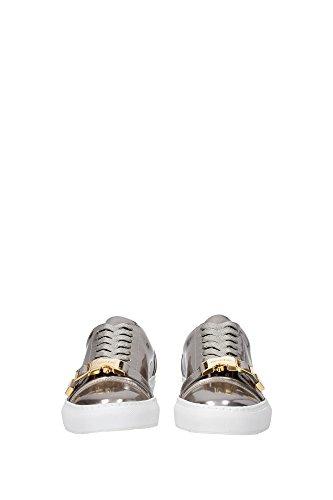 50MMPLATINUM Buscemi Sneakers Homme Cuir Verni Argent Argent