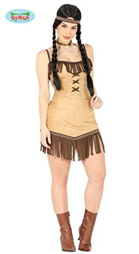 Guirca Gallischer-Indianerin Kostüm Indianer für Erwachsene, M, 80735 (Redskins Kostüm)