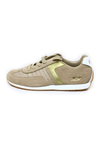 Diesel Leather Sneakers mod. Libra Mushroom