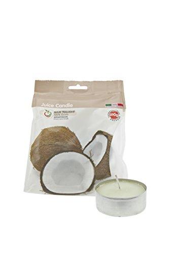 Scheda dettagliata Cereria di Giorgio Succo di Candela Maxi Tealight Profumati alla Frutta, Cera, Bianco, 5.9x5.9x2.3 cm, 5 unità