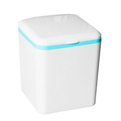 *Arbeitsplatte Abfalleimer, WEIZQ Mini Tischabfalleimer Mülltonne Papierkorb Abfalleimer mit deckel,16×13,5× 13,5cm*