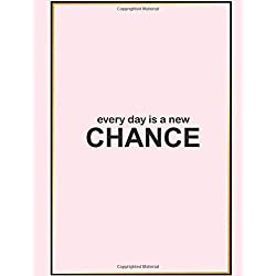 """New Chance: Grid Paper Notebook 100 pages 8.5"""" x 11"""" Pink Cover"""