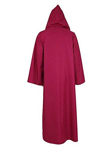 Tiny Time Herren Ritter Cosplay Kostüm Robe Bunt Halloween Mantel Outfit Rose