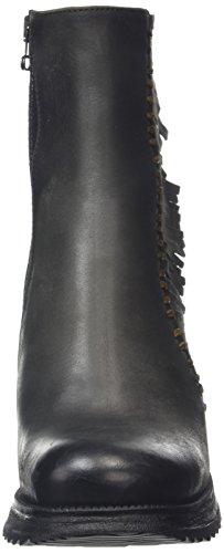BUNKER Damen Booty Kurzschaft Stiefel Schwarz (Black)