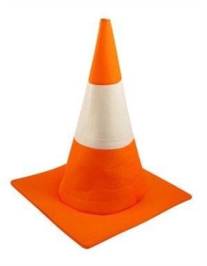 Déguisement chapeau cône circulation orange et blanc