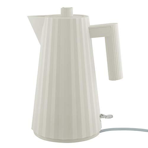 Alessi Plissé MDL06 W Bouilloire électrique en résine thermoplastique, Blanc Prise européenne.