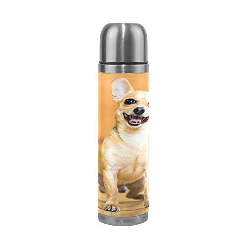 Eslifey Lustige Hunde-Trinkflasche, isoliert, doppeltes Vakuum, Edelstahl, 500 ml