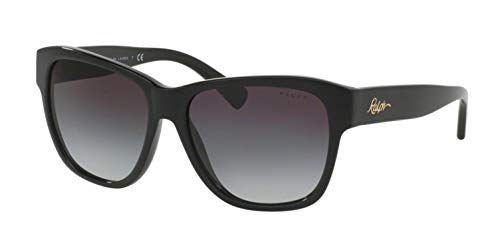 Ralph lauren ralph by 0ra5226 13778g occhiali da sole, nero (black/darkgreygradient), 56 donna